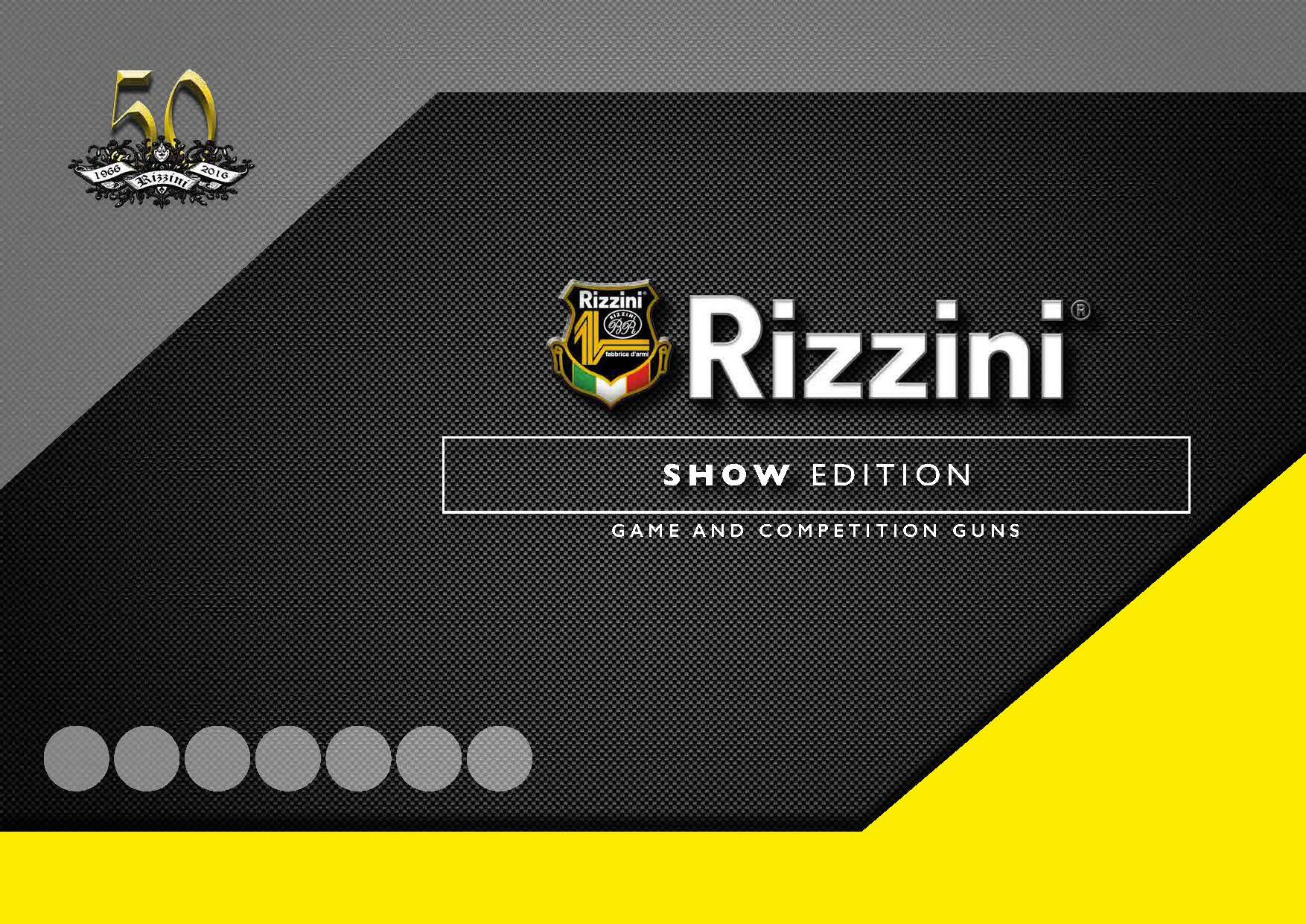 Rizzini catalogo Show Edition 2016-2017 - Armi Magazine