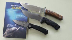I tre coltelli di Maserin disegnati da Nicolai Lillin