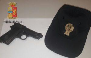 pistola nel bagaglio a mano base di sigonella aeroporto di comiso