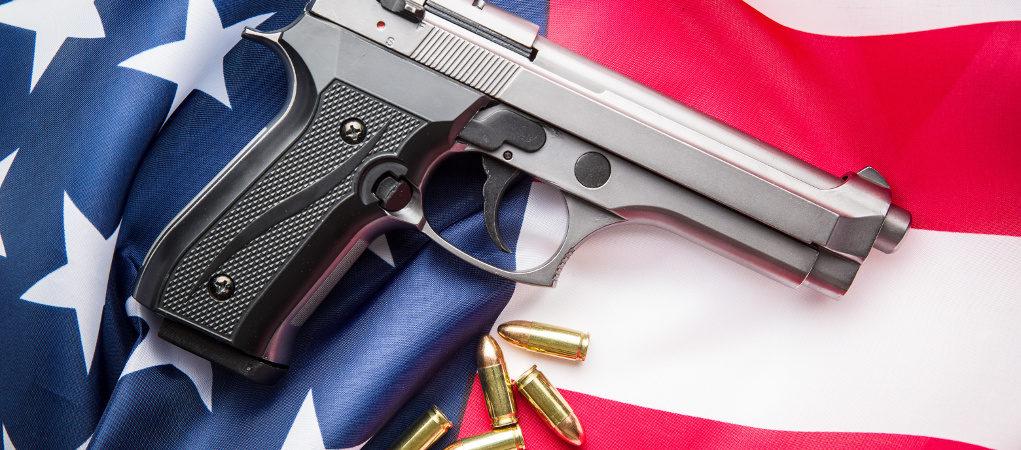 Illinois gun us flag