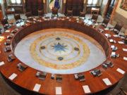 Sala del Consiglio dei ministri: Bongiorno e Bonafede sulla legittima difesa