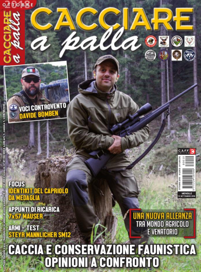 Matteo Brogi e Davide Bomben sulla copertina di Cacciare a Palla ottobre 2018