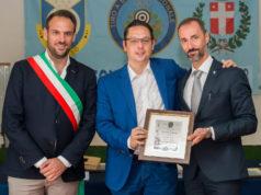 Mario Conte e Marco Bruniera assieme al senatore della Lega Massimo Candura premiato dal Tsn di Treviso.