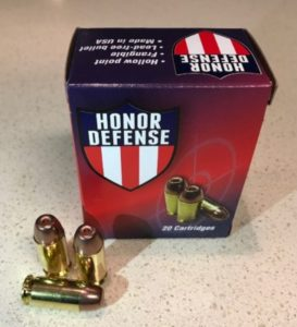 munizioni per pistola a frammentazione hornady defense hollow point
