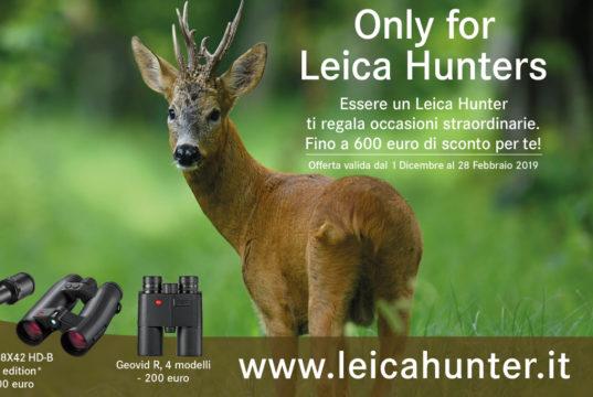 La promozione di Leica per chi vuole acquistare un'ottica da caccia
