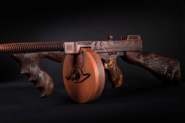 caricatore a tamburo dell'arma di auto-ordnance Bonnie & Clyde