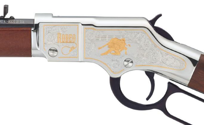 decorazione in oro della carabina a leva henry usa American Rodeo Tribute Edition