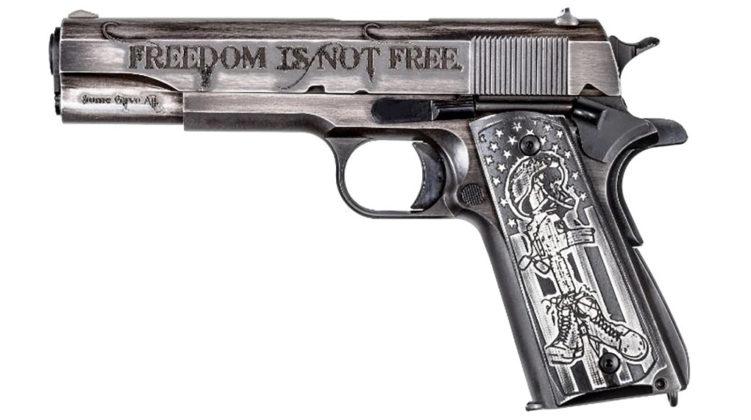 lato sinistro della pistola custom 1911 Auto Ordnance I Stand