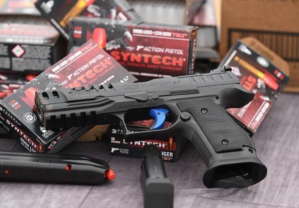 munizioni Syntech e pistola da competizione Walter Q5 Match Steel Frame