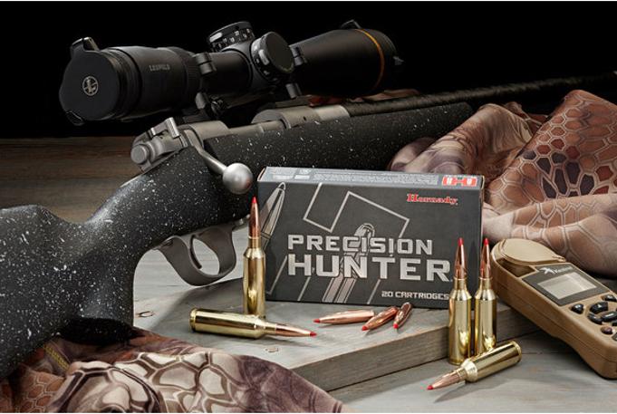 sei munizioni a palla hornady precision hunter eld-x con confezione e carabina