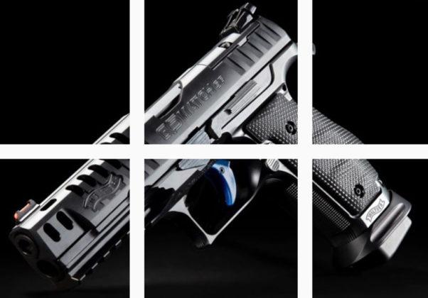 sei foto su Instagram della pistola da competizione Walter Q5 Match Steel Frame