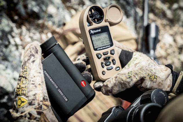 telemetro Leica CRF 2800 COM anemometro Kestrel Elite 5700: così si può misurare la velocità del vento