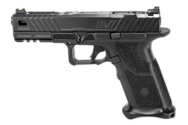 vista sinistra della pistola modulare zev technologies oz-9