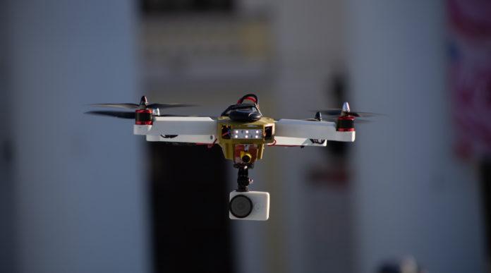 tiro al drone, drone amatoriale