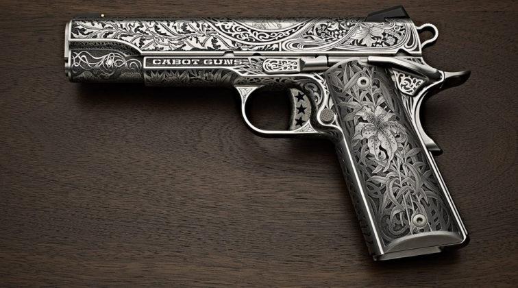 Cabot Oak Custom Le Nouveau, pistola custom lato sinistro