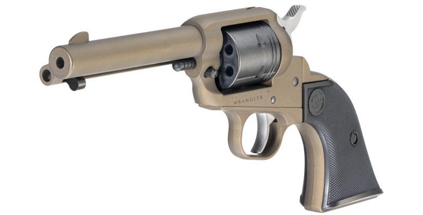 fianco sinistro del revolver ad azione singola ruger wrangler bronzo