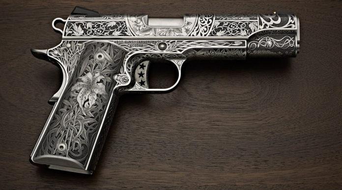 pistola da collezione 1911 Cabot Oak Custom Le Nouveau