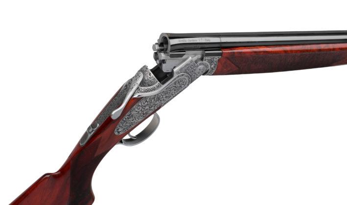 aperto, il fucile sovrapposto beretta sl3 dedicato a leonardo da vinci