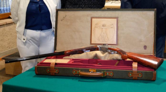 fucile da collezione beretta dedicato a Leonardo da Vinci