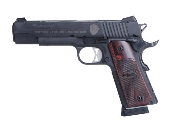 lato sinistro della pistola hammer fired sig sauer nleomf 1911 nitron