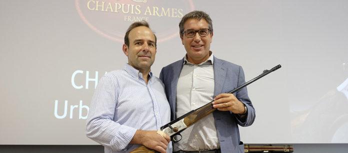 Vincent Chapuis, il produttore di armi francesi, con Bruno Beccaria di Franchi, azienda che ne cura la distribuzione in Italia