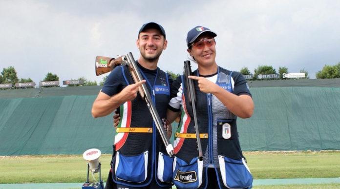 Gabriele Rossetti e Diana Bacosi vincono la medaglia d'oro nella Coppa del Mondo di tiro a volo, specialità skeet mixed team