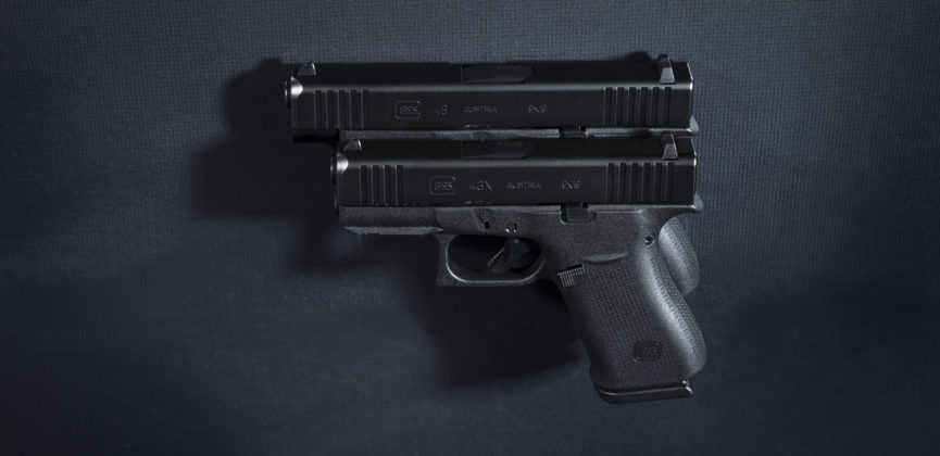confronto della lunghezza delle pistole g43x e g48