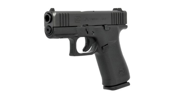 di tre quarti, la pistola glock g43x