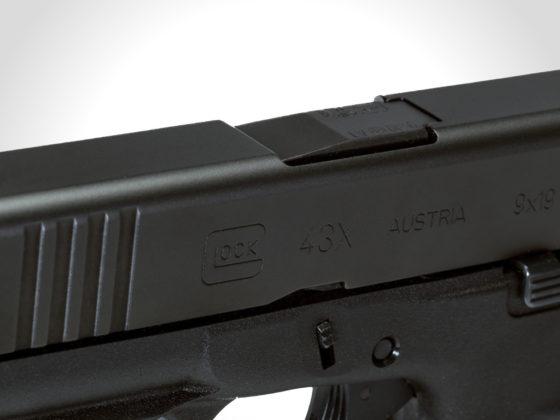 finitura delle glock g43x e g48 black