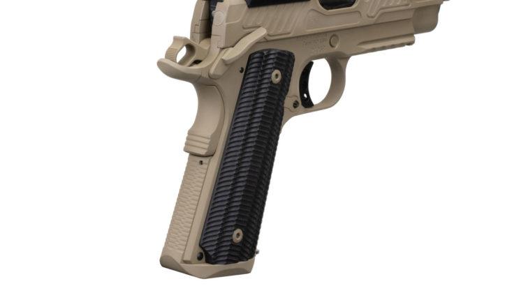impugnatura VZ Alien in G10 della pistola EB ZEV 2019