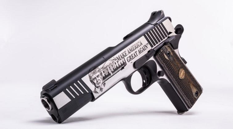 incisioni della pistola Thompson Trump 45 Custom 1911