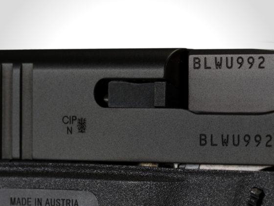 indicatore di colpo in camera delle glock g43x e g48 black