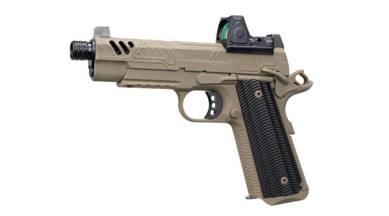 la pistola EB ZEV 2019 vista da sinistra
