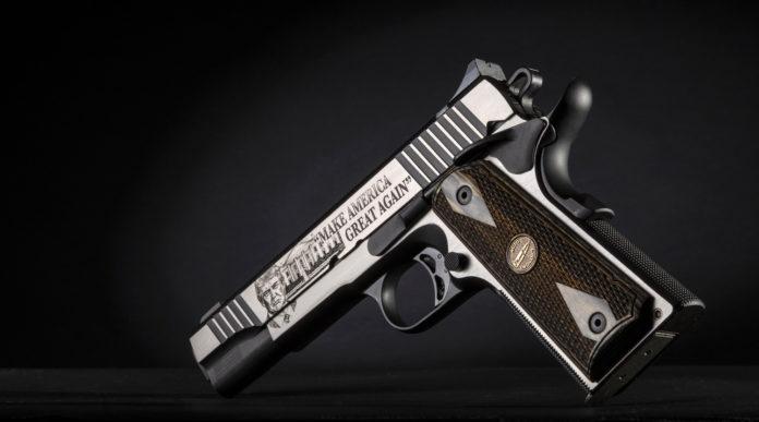 la pistola da collezione Thompson Trump 45 Custom 1911