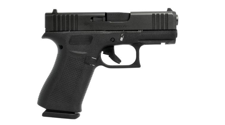 la pistola glock g43x black vista da destra