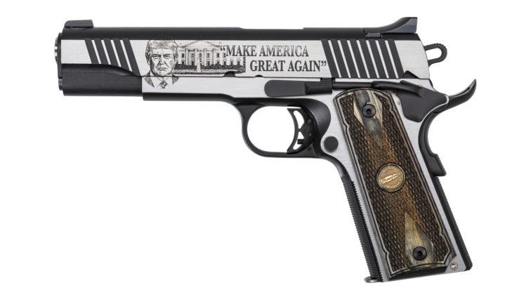 lato sinistro della pistola Thompson Trump 45 Custom 1911