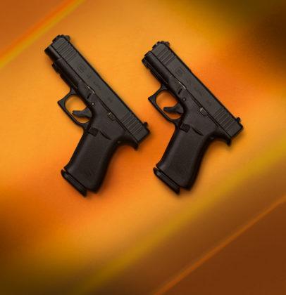 le pistole g43x e g48 puntano verso l'alto