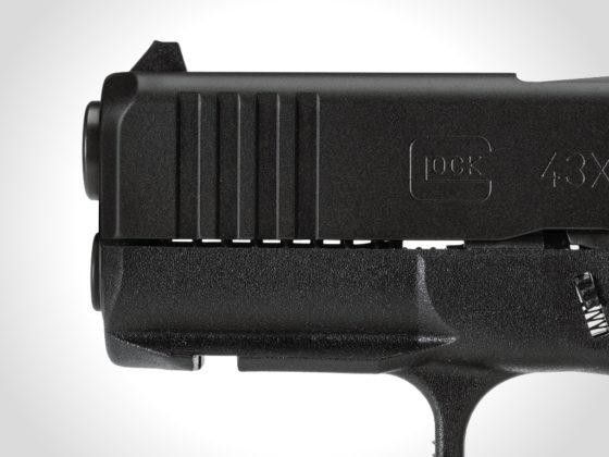 mounting rail slim and front serrations della glock g43x black