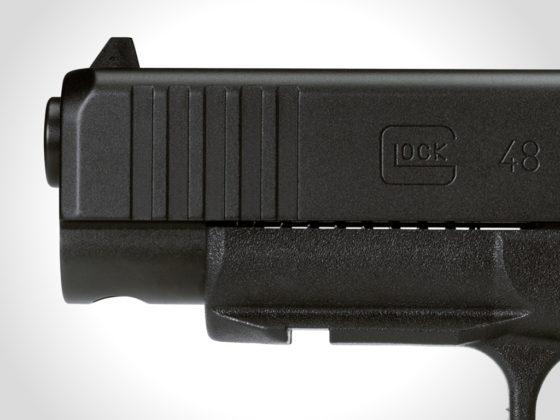 mounting rail slim and front serrations della glock g48 black