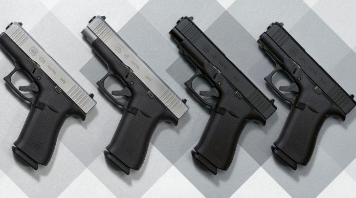 pistole glock g43x e g48 argento e total black