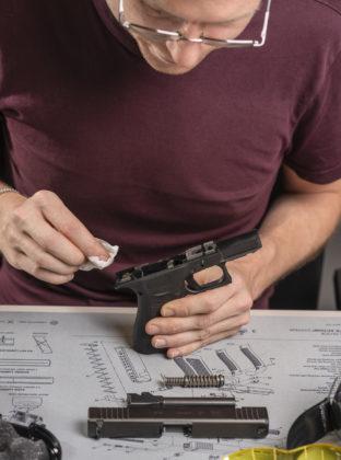 pulizia della pistola glock g43x