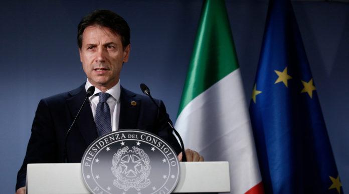 Giuseppe Conte nella sala stampa di Palazzo Chigi: è nato il governo Conte bis