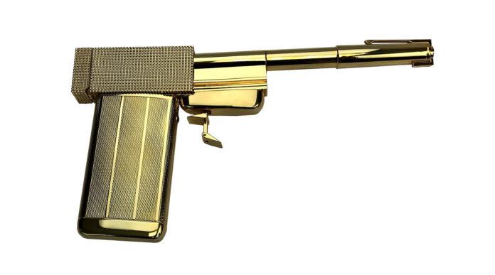 La pistola d'oro di Francisco Scaramanga prodotta in 500 repliche numerate