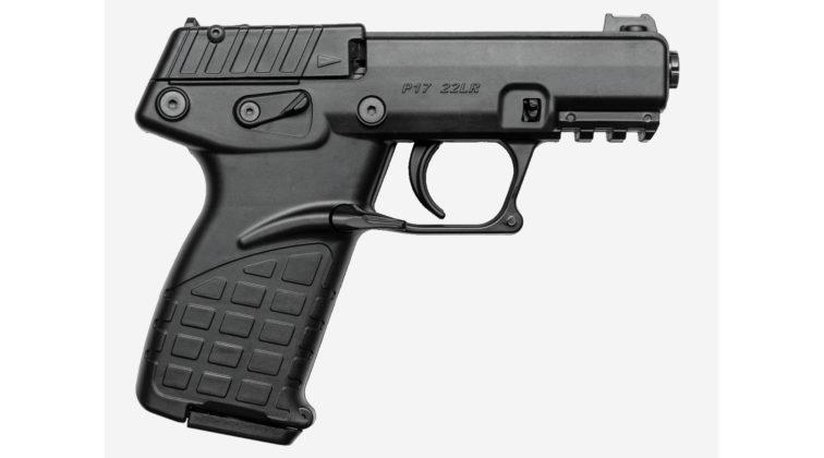 vista laterale della pistola compatta Keltec P17