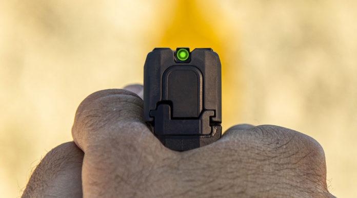 mira incassata della pistola Sig Sauer P365 SAS