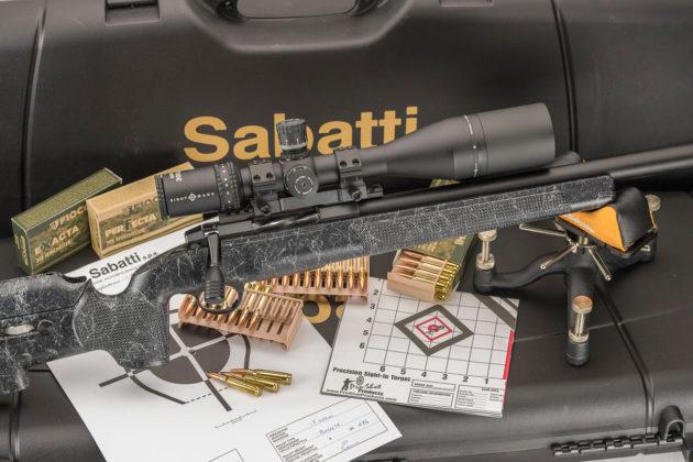 sabatti tactical evo, la nuova carabina bolt action con munizioni fiocchi exacta e perfecta