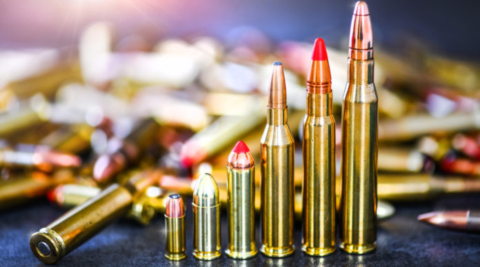 divieto di munizioni in piombo: sei munizioni in ordine d'altezza crescente