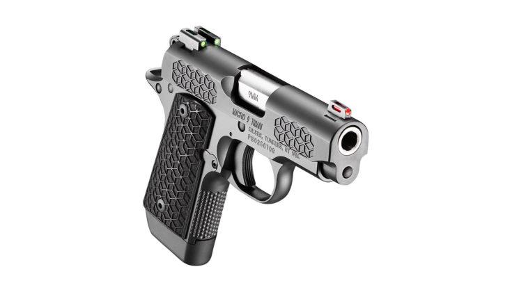 kimber micro 9 triari, la pistola vista da davanti