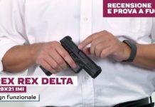 Arex Rex Delta calibro 9x21, la prova a fuoco