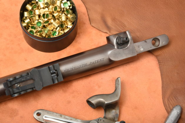 scritta Whitworth Patent sul fucile Whitworth di Pedersoli